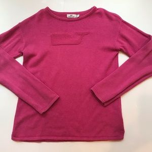 Vineyard girls XL pink sweater women's XS/S